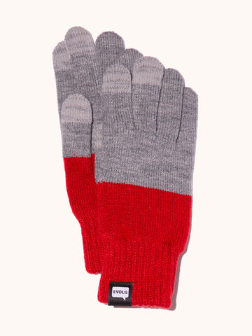 EVOLG 2Ton Knit Gloves - Gray/Red