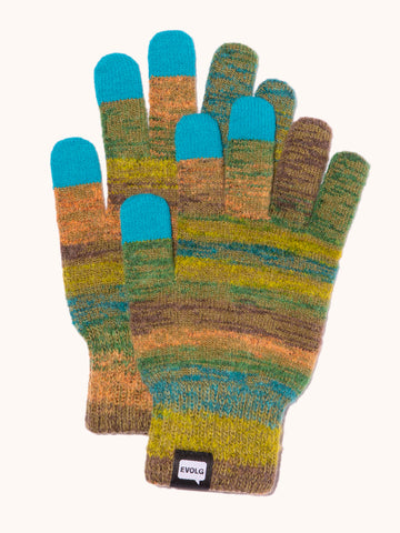 EVOLG Azteka Knit Gloves - Green