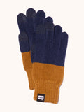 EVOLG 2Ton Knit Gloves - Navy/Curry Yellow