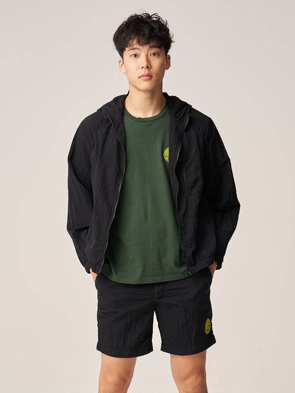 Hooded Rain Jacket - Black