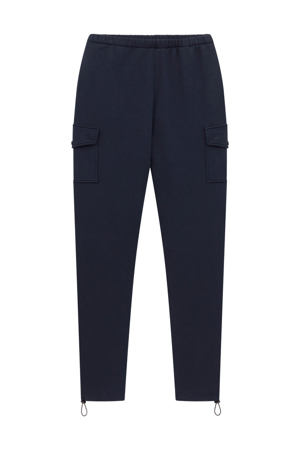 Fleece Cargo Pant - Navy
