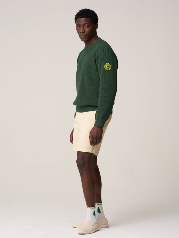 FSC Patch Crewneck Sweater - Dark Green