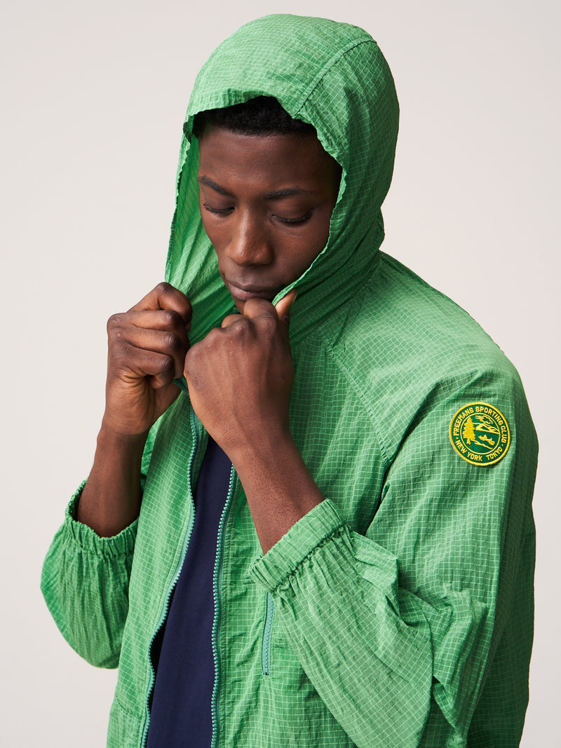 Hooded Rain Jacket - Green