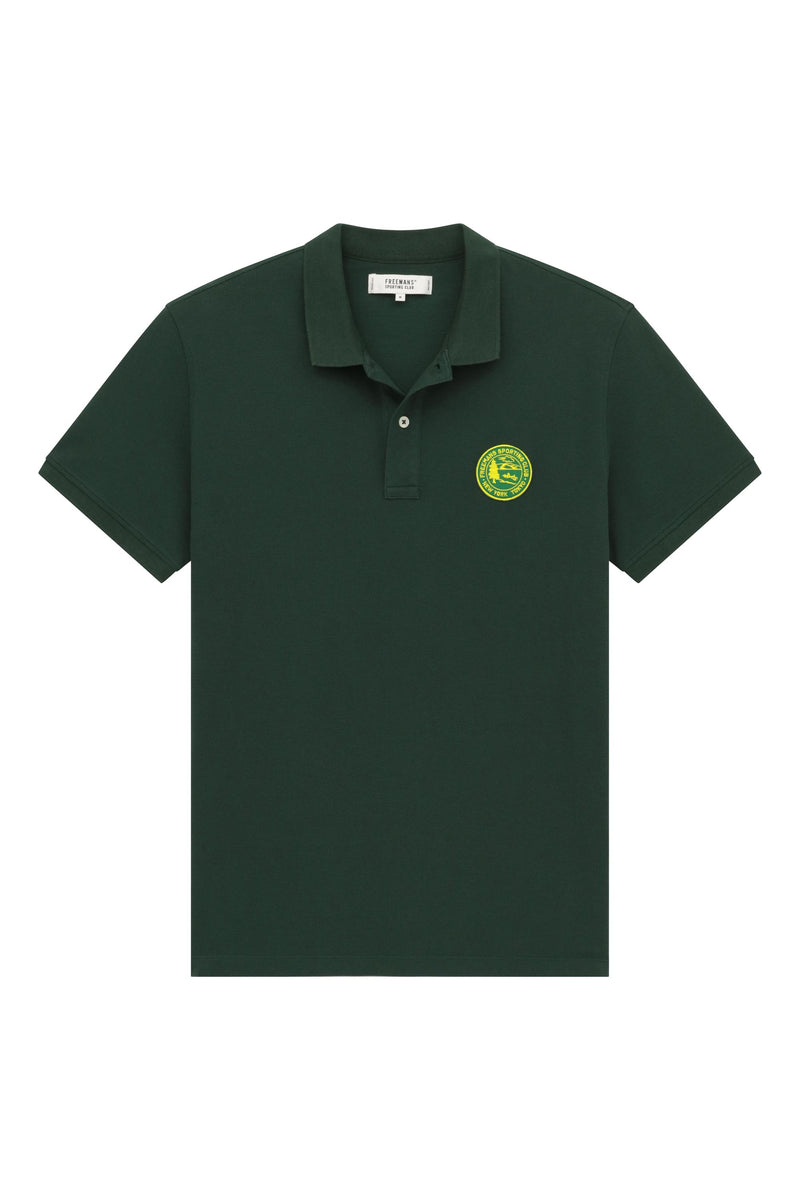 Knit Polo- Dark Green