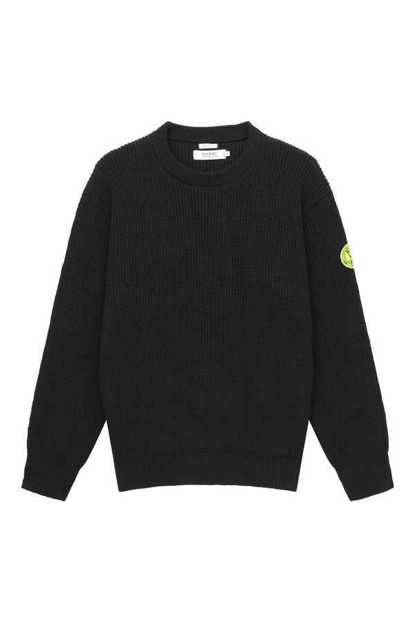 FSC Patch Crewneck Sweater- Black
