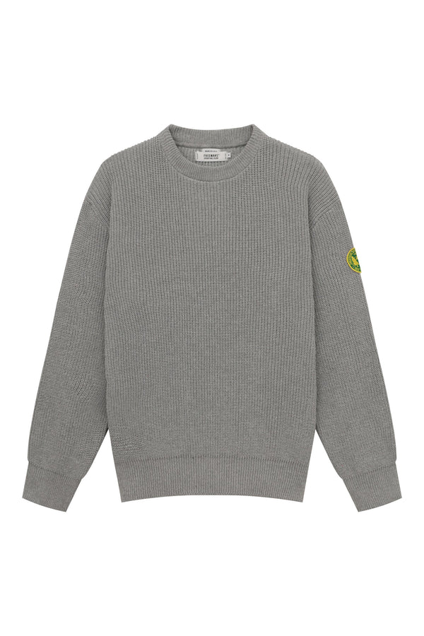 FSC Patch Crewneck Sweater - Heather Grey
