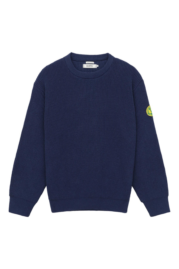 FSC Patch Crewneck Sweater - Navy