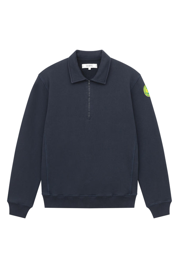 Quarter Zip Fleece - Navy