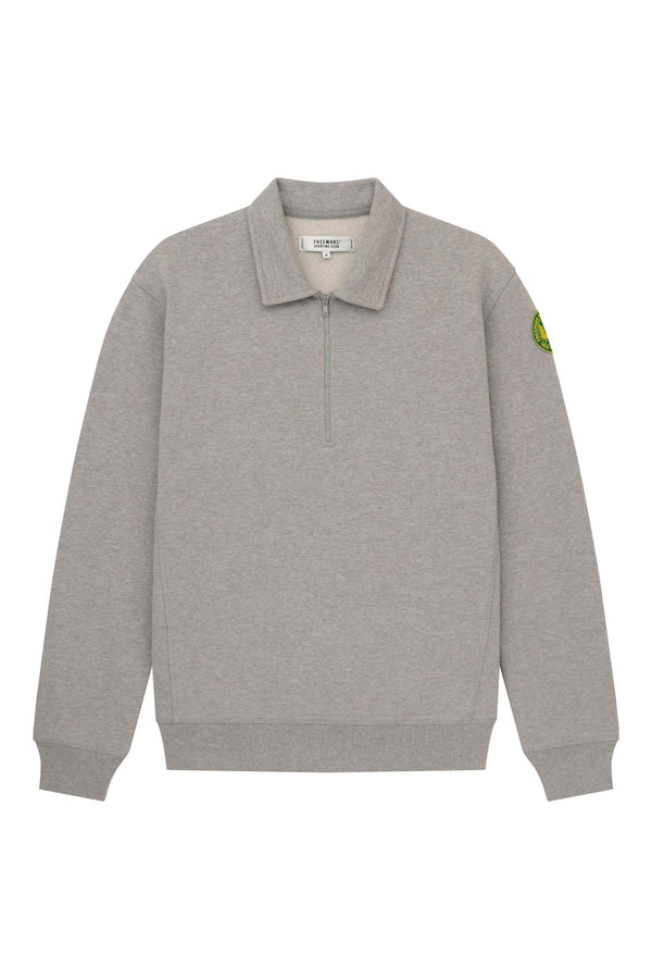 Quarter Zip Fleece - Heather Grey