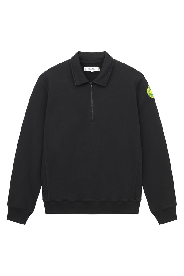 Quarter Zip Fleece - Black