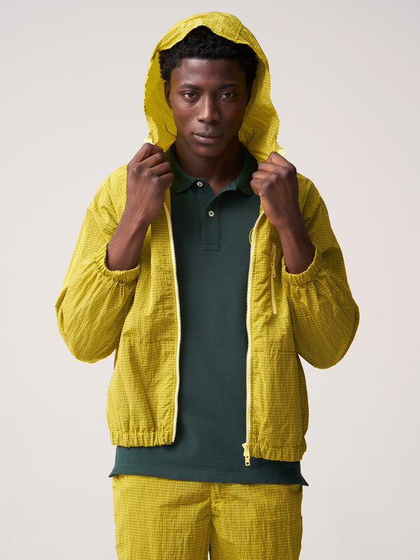 Hooded Rain Jacket - Yellow