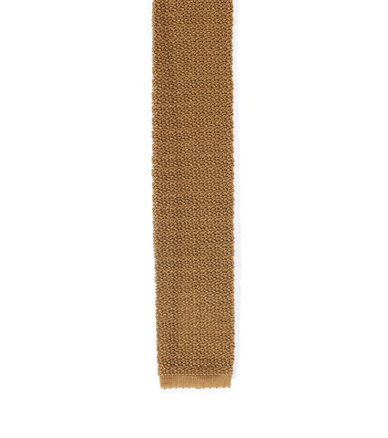 Italian Knit Necktie - Honey