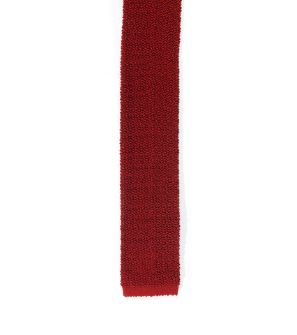 Italian Knit Necktie - Port
