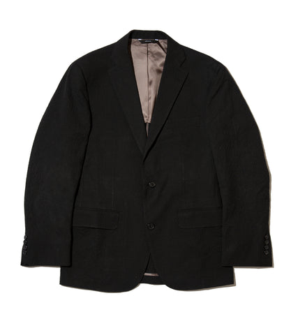 Freemans Sport Coat - Black Seersucker