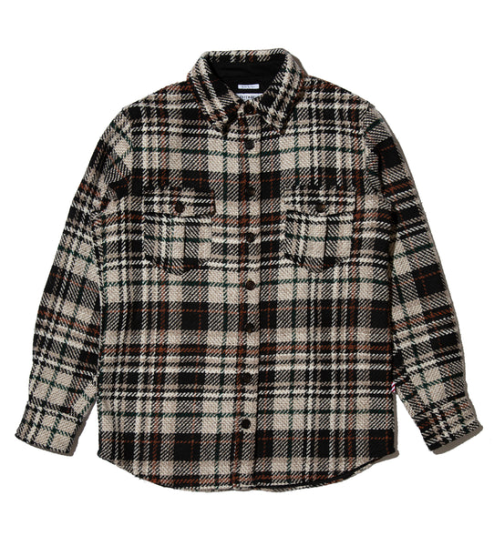 Overshirt- Black Plaid