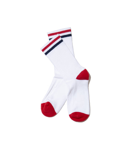 The Kennedy Lux Athletic Sock- White