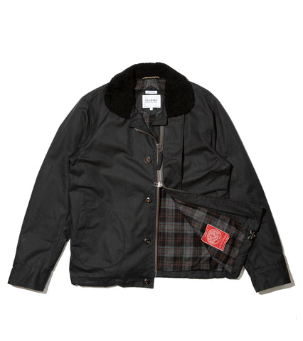 N1 Deck Jacket - Black Waxed Cotton