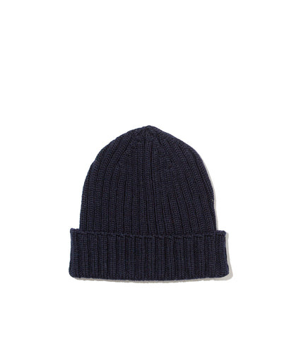 Ribbed Hat- Navy