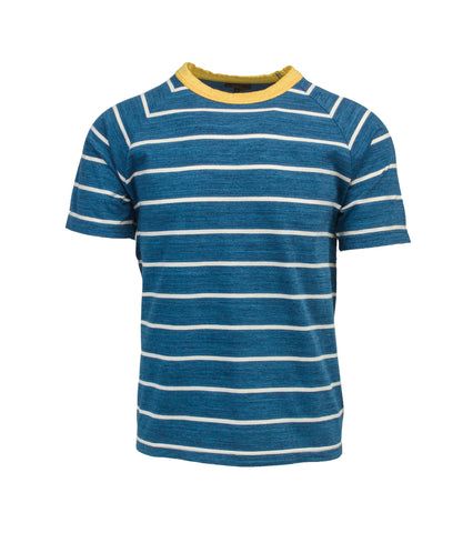 Striped T-Shirt - Indigo/Yellow