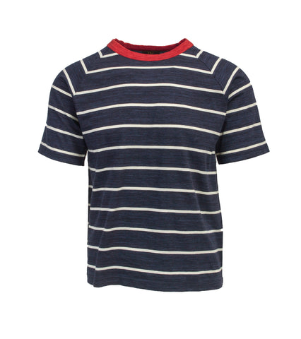 Striped T-Shirt - Navy/RED