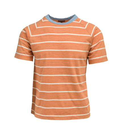Striped T-Shirt - Orange/Blue