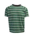 Striped T-Shirt - Green/Charcoal