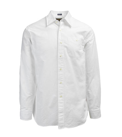Point Collar Mission Shirt - White Oxford
