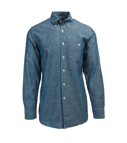 Button Down Collar Mission Shirt - Chambray