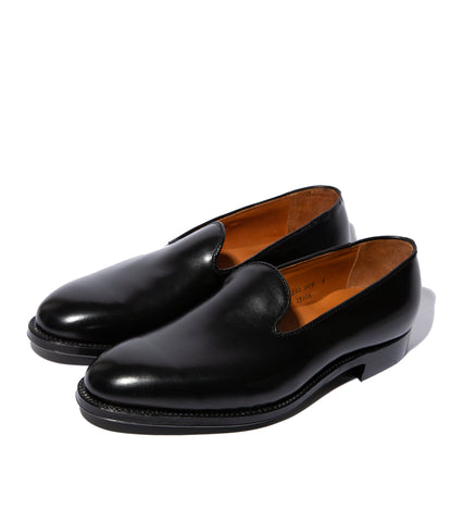 Freemans X Alden Slipper- Black Calfskin