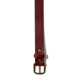Freemans Belt- Burgundy