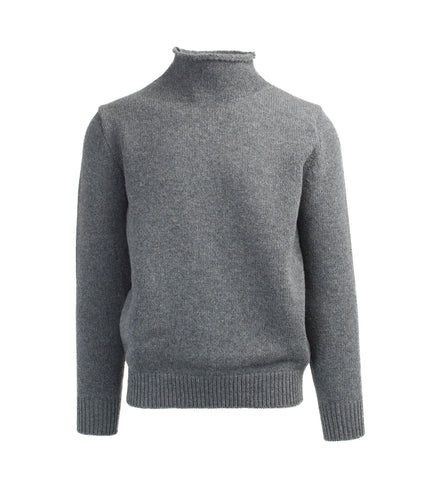 Wool Rollneck Sweater - Grey
