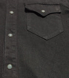 Western Shirt - Black One Rinse
