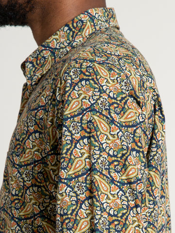 CS-1 Shirt- Navy Paisley