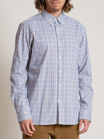 CS-1 Shirt- Navy Brown Tattersall