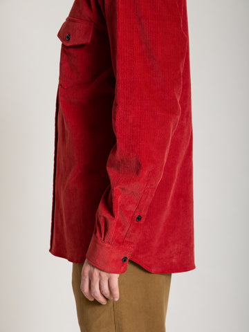 CS-2 Shirt- Red Corduroy