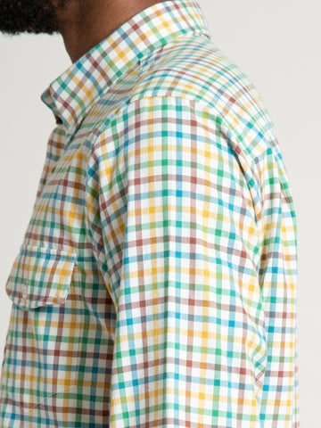 CS-2 Shirt- Yellow Green Tattersall
