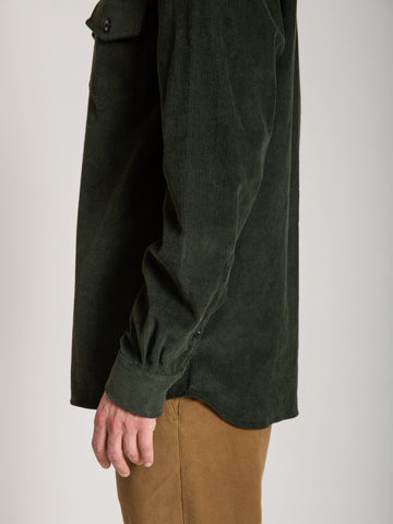 CS-2 Shirt- Green Corduroy
