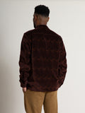 Camp Collar Shirt- Burgundy Print