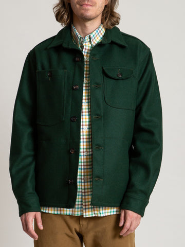 Camp Shirt - Green Melton Wool