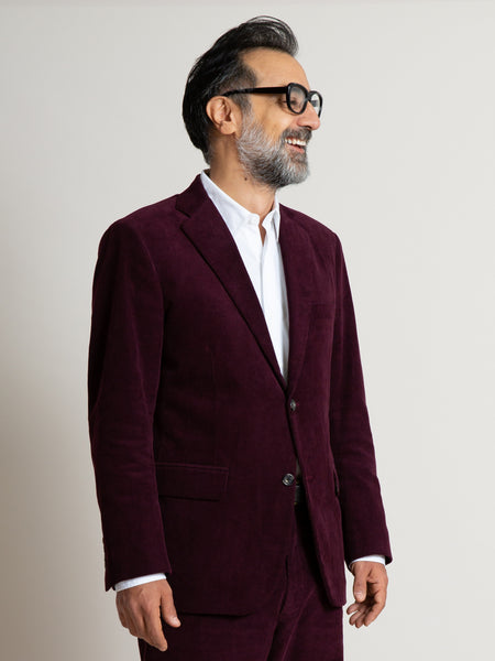 The Freeman Sports Coat - Burgundy Corduroy
