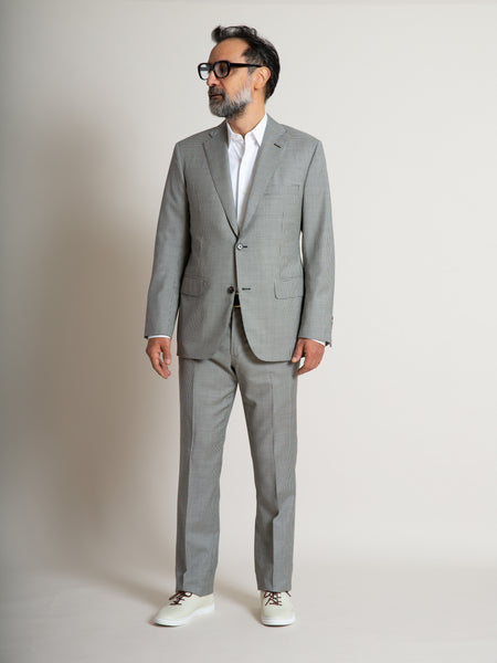The Freeman Suit - Black and White Houndstooth