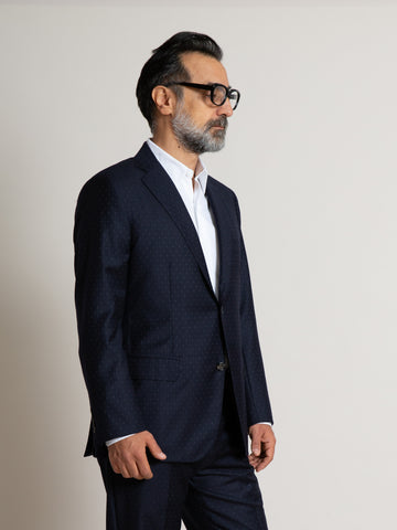 The Freeman Suit - Navy Dot