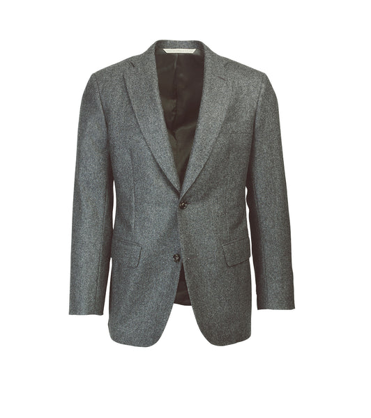 The Freeman Suit Jacket- Charcoal Flannel