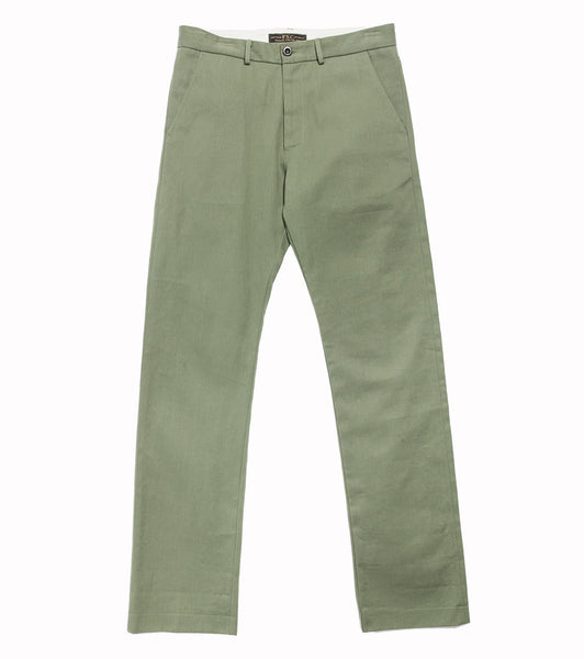 Winchester Chino- Olive Selvedge