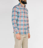 Hopkins Shirt - Heavy Blue Plaid