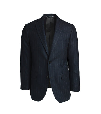 The Freeman Suit - Navy Pinstripe Flannel