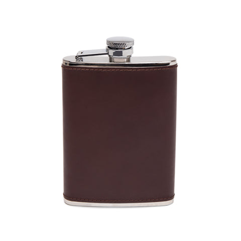 Ettinger- Chestnut 6oz Captive Top Flask