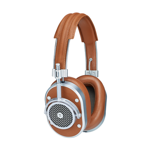 MASTER & DYNAMIC MH40 HEADPHONES - Silver/Brown