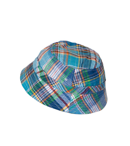 Reversible Bucket Cap- Madras/Green
