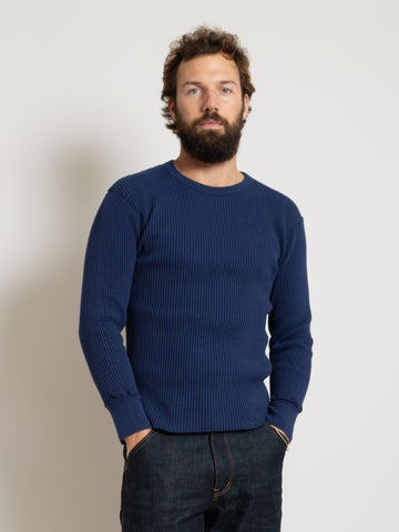 Homespun Crew Thermal - Indigo